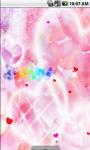 Pink Heart Cute Live Wallpaper screenshot 2/4