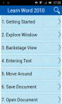 Learn Word 2010 v2 screenshot 1/3