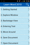 Learn Word 2010 v2 screenshot 2/3