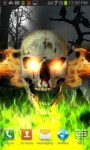 Skull on Fire Color Flame LWP free screenshot 1/5