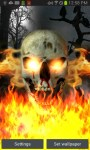Skull on Fire Color Flame LWP free screenshot 2/5