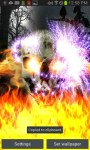 Skull on Fire Color Flame LWP free screenshot 3/5