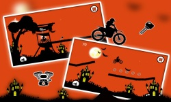 Free Moto Racer Halloween Town screenshot 2/6