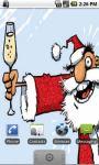 Crazy Santa Live Wallpapers screenshot 2/2