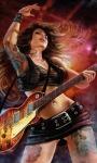 Rocker Music Girl Live Wallpaper screenshot 2/3