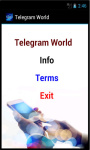 Telegram World screenshot 2/4