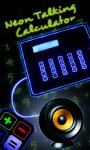 Neon Light Talking Calculator screenshot 1/4