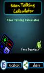 Neon Light Talking Calculator screenshot 4/4