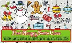 Feed Hungry Fat Santa Claus - Rolling Santa Minion screenshot 1/6