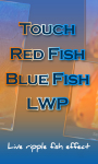 Touch Red Fish Blue Fish LWP free screenshot 2/4