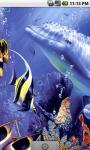 Cute Underwater Dolphins Live Wallpaper screenshot 2/4