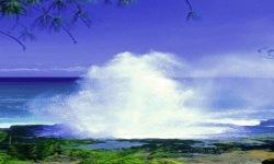 Ocean Fountain Live Wallpaper screenshot 2/3