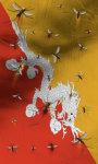 Bhutan flag lwp Free screenshot 2/5