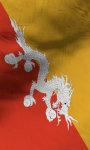 Bhutan flag lwp Free screenshot 3/5