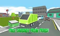 Blocky Garbage Transport Truck screenshot 1/4