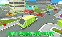 Blocky Garbage Transport Truck screenshot 3/4
