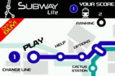 Subway Line Lite Fun Retro Arcade Game FREE screenshot 1/1