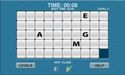 WoW Word Slide Puzzle Free screenshot 2/2