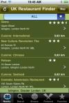 UK Restaurant Finder screenshot 1/1