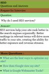 Learn SEO Interview Q A screenshot 3/3