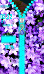 Flowers Zipper Lock Screen screenshot 5/6