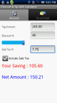 Discount and Tip-Split Calculator screenshot 1/2