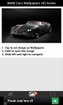 BMW Cars Wallpapers HD Series screenshot 2/3