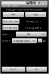 PkgTrackerAd screenshot 1/2