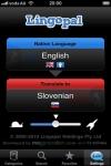 Lingopal Slovene LITE - talking phrasebook screenshot 1/1