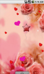 Pink Roses Romantic Live Wallpaper screenshot 1/4