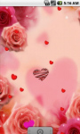 Pink Roses Romantic Live Wallpaper screenshot 2/4