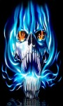 Blue Flame Skull LWP screenshot 2/3