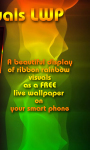 Rainbow Ribbon Visuals LWP free screenshot 1/3
