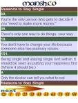 101 Reasons to Stay Single screenshot 2/2