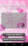 Pink Diamonds Live Wallpaper free screenshot 6/6