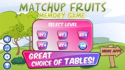 MatchUp Fruits Memory Game screenshot 4/5
