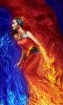 Girl On Fire Live Wallpaper screenshot 1/3