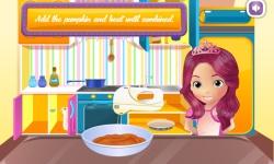 Princess cooking Pumpkin Tart screenshot 2/3