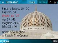 Azan for Nokia S60 phones screenshot 1/1