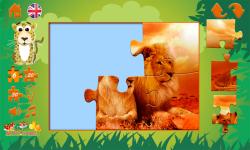 Puzzles: wild animals screenshot 3/6