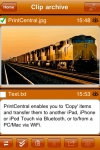 PrintCentral for iPhone/iPod Touch screenshot 1/1