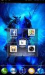 Blue Fire Horseman Live Wallpaper screenshot 2/3