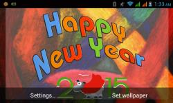 Happy New Year 2015 Live WallPaper screenshot 4/6