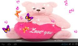 3D Teddy Bear Live Wallpaper screenshot 3/5