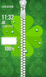 Zipper Lock Screen – Clovers screenshot 4/6