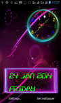 Neon Analog Clock Live Wallpaper screenshot 3/5