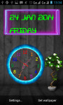 Neon Analog Clock Live Wallpaper screenshot 4/5