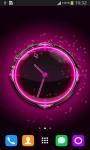 Pink Glow Clock screenshot 1/6