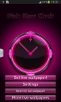 Pink Glow Clock screenshot 2/6