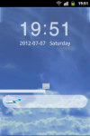GO Locker Theme Blue Clouds Sky screenshot 1/2